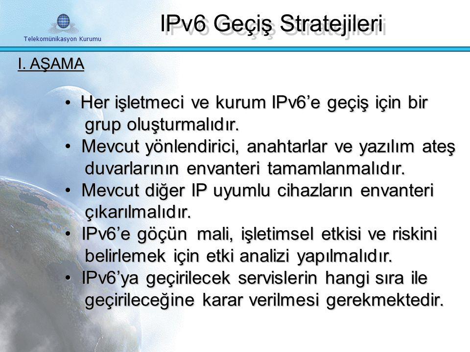 Telekomünikasyon Kurumu IPv6 Stratejileri