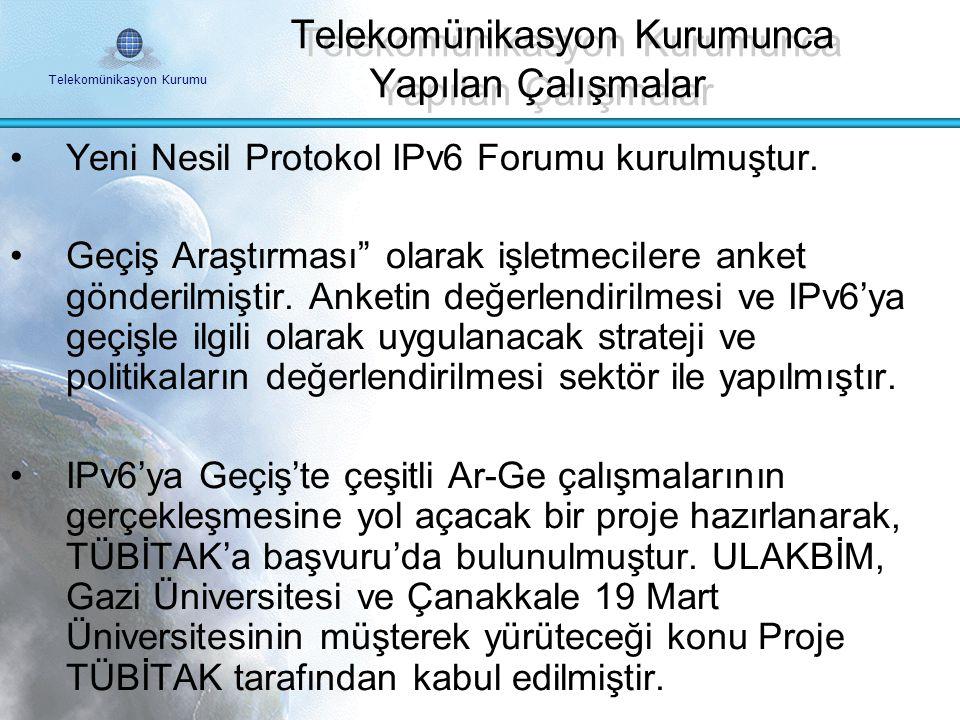 Telekomünikasyon Kurumu Türkiye'de IPv6'e Geçişe Neden Gereksinim Duyulmaktadır ? İnternet kullanımının düşük olması, Güvenlik çok önemlidir, Hizmetle