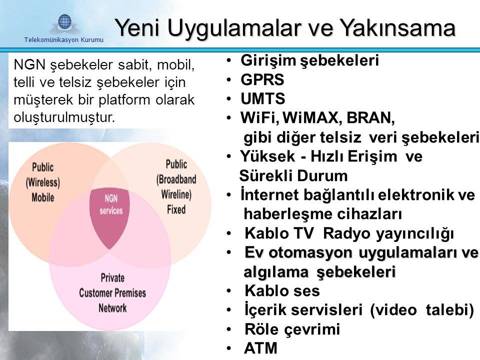 Telekomünikasyon Kurumu IPv6 ve Yeni Uygulamalar 2G ve 3G Mobile Şebekeler