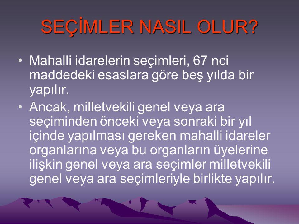 SEÇİMLER NASIL OLUR.