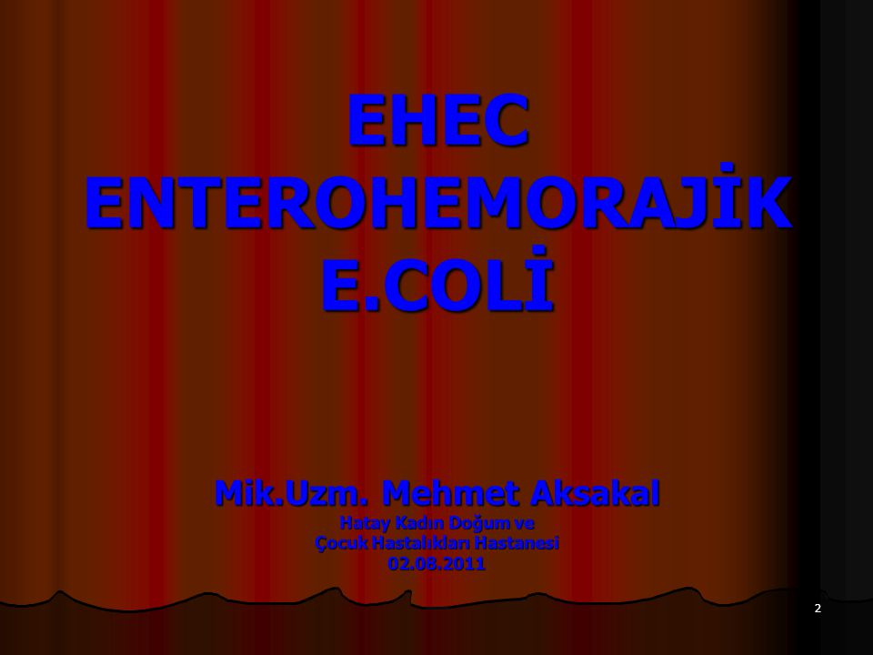 23 Epidemiyoloji Avrupa Birliği Ülkelerinde STEC O104 Vakaları (2008-2010) ÜlkeYılVaka Sayısı Belçika20082 Danimarka20081 Norveç20093 Avusturya20101 İsveç20101