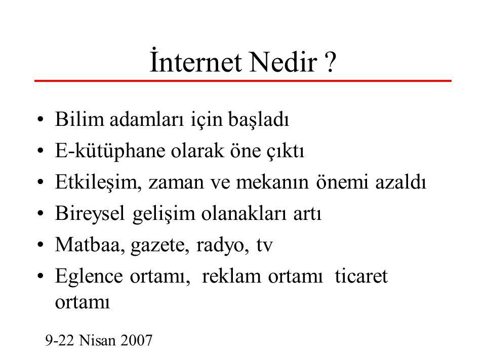 İnternet, Bilişim ve Bilgi Toplumu 5 İnterneti Nasıl Algılamalı.