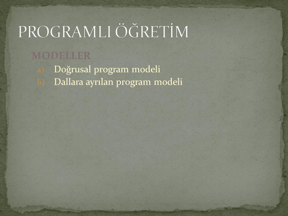 MODELLER a) Doğrusal program modeli b) Dallara ayrılan program modeli