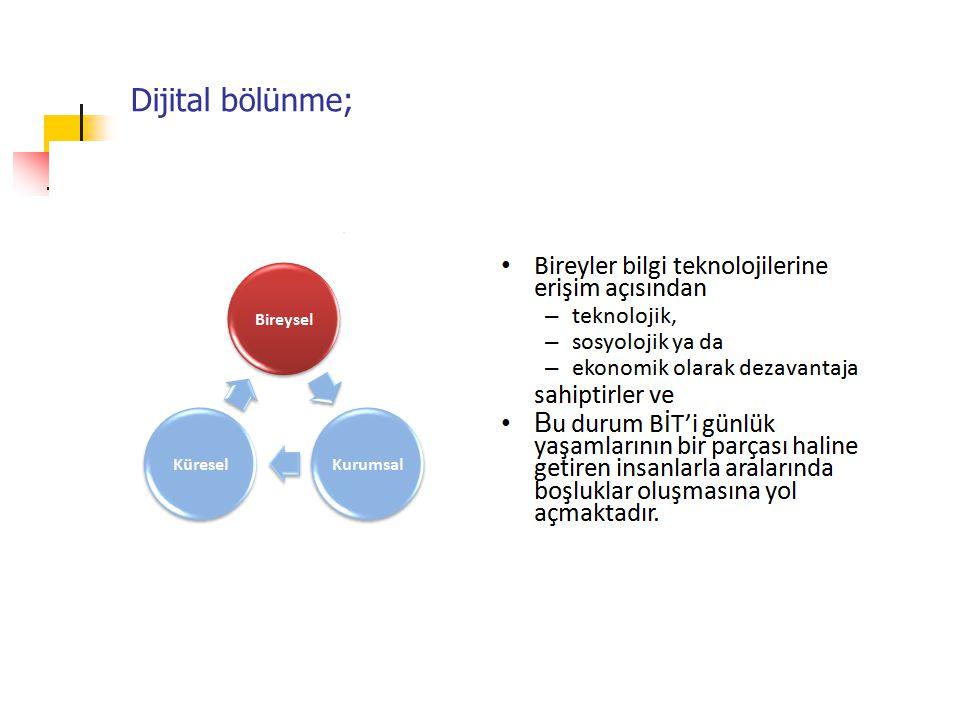 Dijital bölünme;