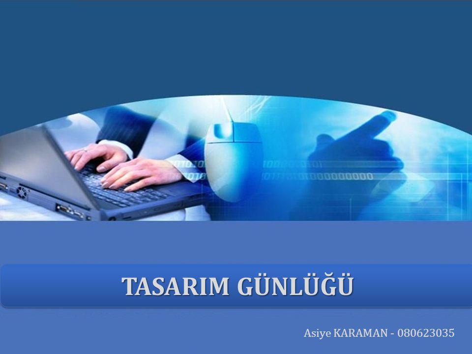 LOGO TASARIM GÜNLÜĞÜ Asiye KARAMAN - 080623035