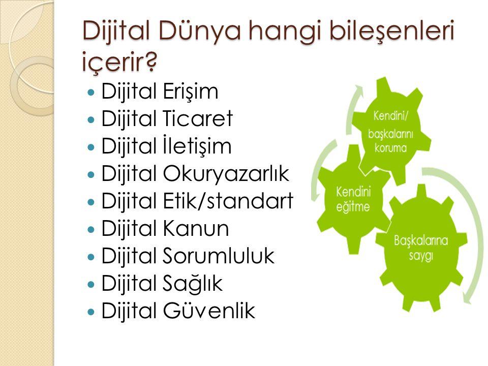 Dijital Erişim Dijital Erişim Bireylerin dil, din, ırk, cinsiyet vb.