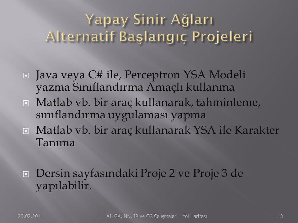  Java veya C# ile, Perceptron YSA Modeli yazma Sınıflandırma Amaçlı kullanma  Matlab vb.