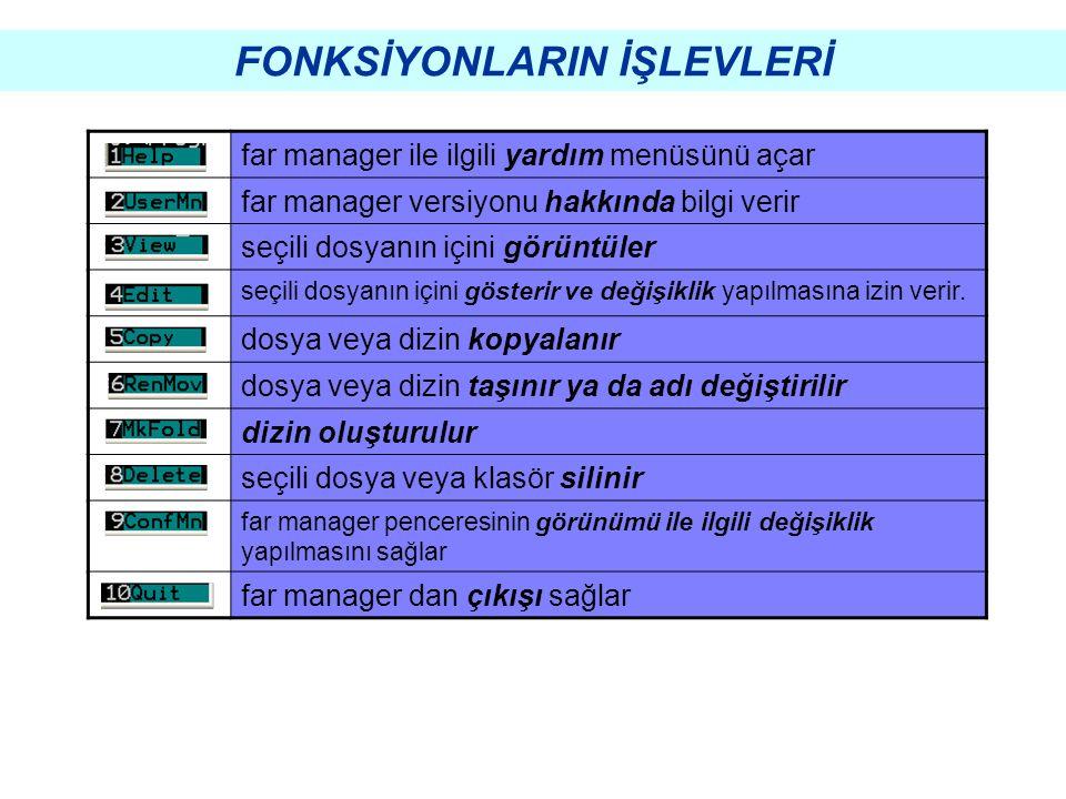 UYGULAMALAR Bir üst dizine geçiş (CD..)