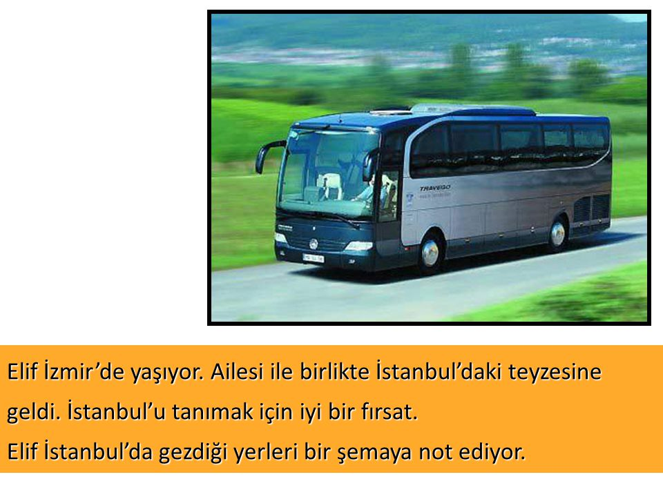 Elif İzmir'de yaşıyor. Ailesi ile birlikte İstanbul'daki teyzesine geldi.