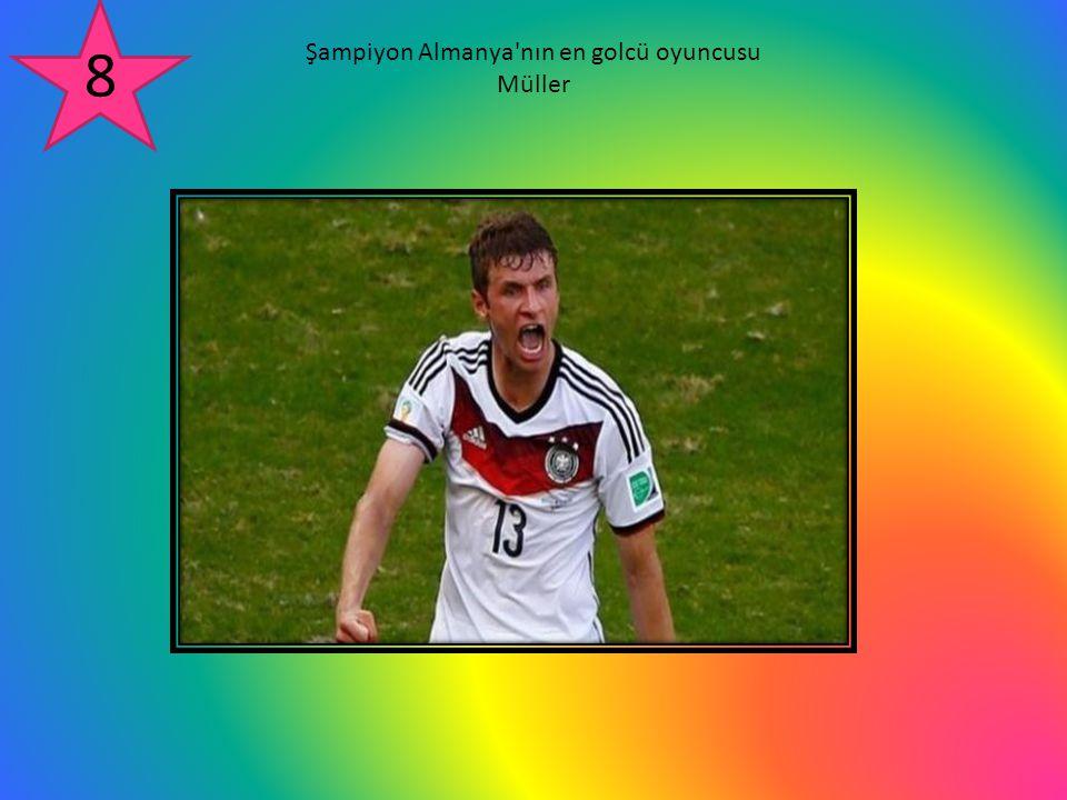 Şampiyon Almanya nın en golcü oyuncusu Müller 8