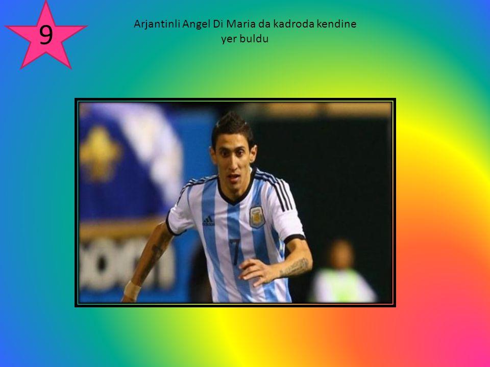 Arjantinli Angel Di Maria da kadroda kendine yer buldu 9