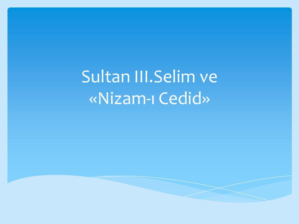  III.Selim'in izlediği politikalar bir takım hoşnutsuzluklarında gerekçesi olmuştu.
