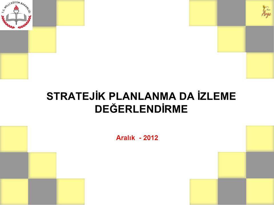 İZLEME ve DEĞERLENDİRME İzleme, stratejik plan uygulamasının sistematik olarak takip edilmesi ve raporlanmasıdır.