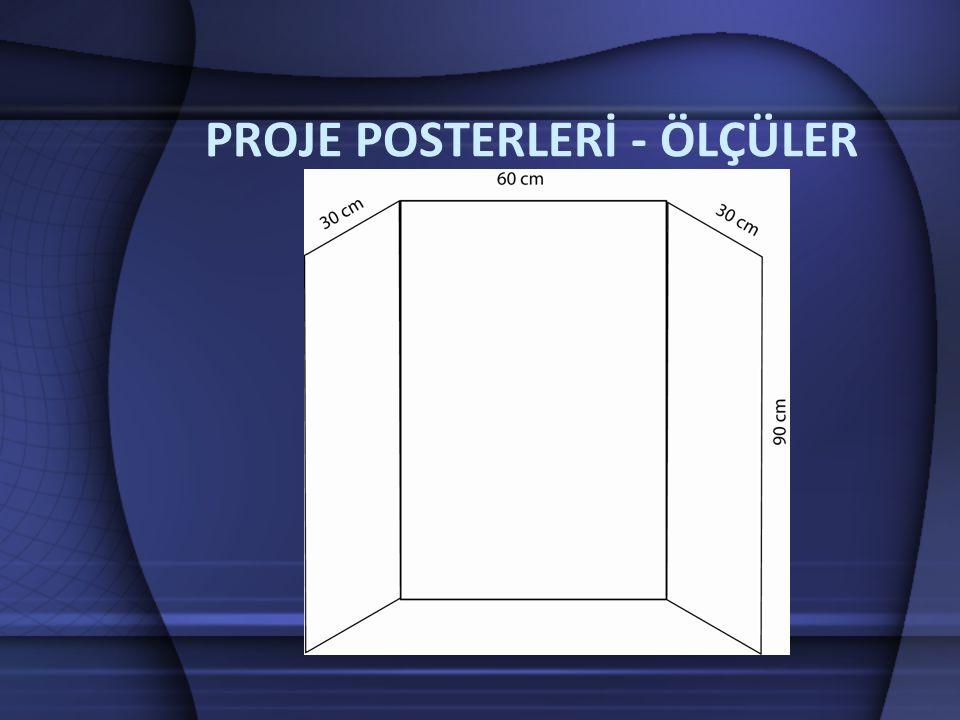 Bilim Fuarı Posteri – Genel Madde Yazı Boyutu Durum Açıklaması Proje Başlığı150+Fuar alanının her yerinden görünmesini sağlar.