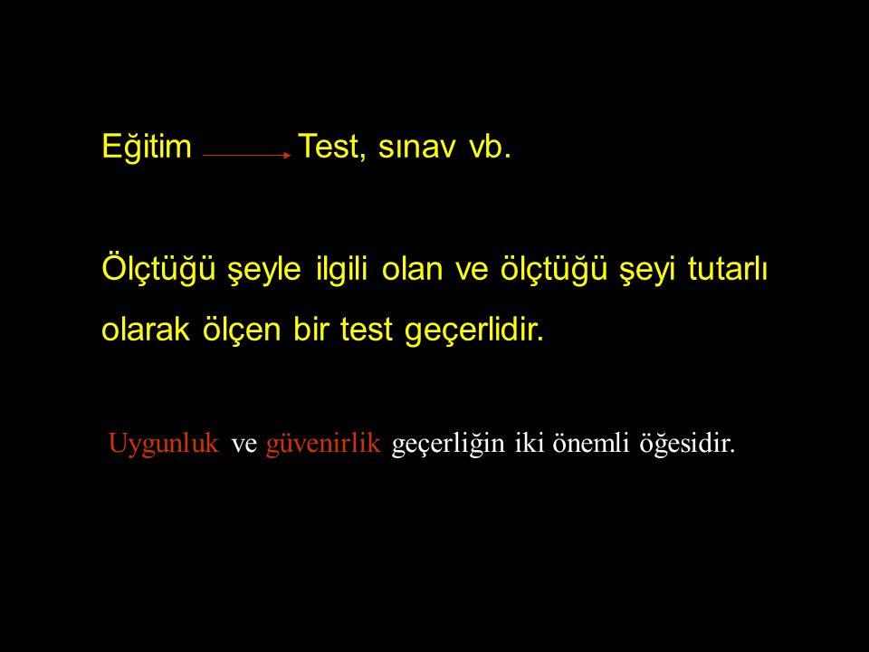 Eğitim Test, sınav vb.