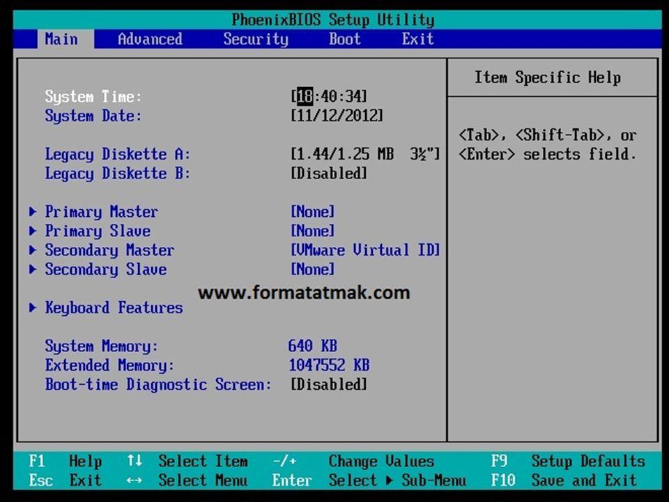  Bilgisayarı açtığımız gibi F2,F10 veya Delete tuşlarını kullanarak BIOS ayarlarına girmektir.