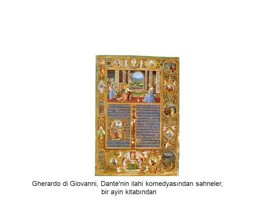Gherardo di Giovanni, Dante'nin ilahi komedyasından sahneler, bir ayin kitabından