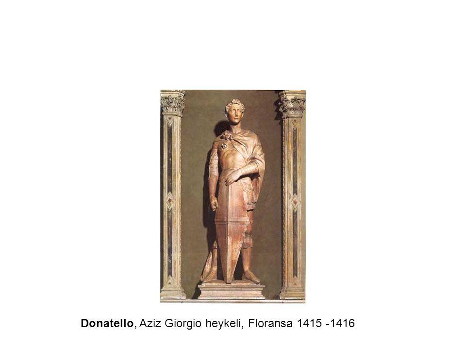 Donatello, Aziz Giorgio heykeli, Floransa 1415 -1416