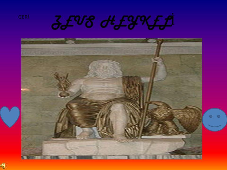 ZEUS HEYKEL İ GERİ