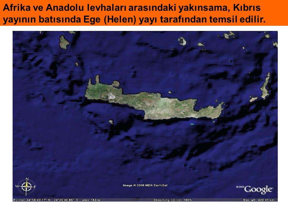 Ege-Kıbrıs Yayı'nda dalma-batmanın yaşı Dalma-batmanın başlangıç yaşı üzerine görüşler:  1- dalma-batma en az 26 my yaşlıdır (Geç Oligosen) (Meulenkamp vd., 1988).