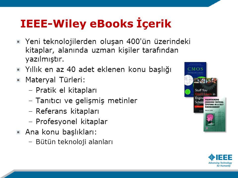 Yeni teknolojilerden oluşan 400'ün üzerindeki kitaplar, alanında uzman kişiler tarafından yazılmıştır. Yıllık en az 40 adet eklenen konu başlığı Mater