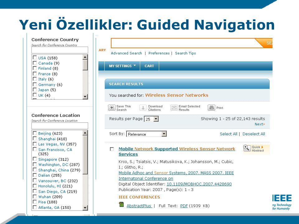 Yeni Özellikler: Guided Navigation