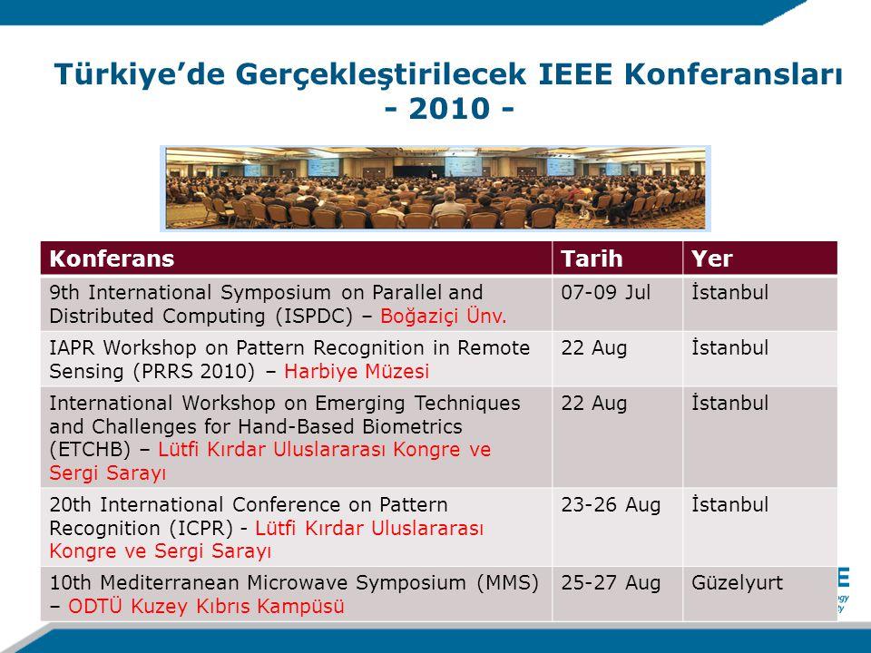 Türkiye'de Gerçekleştirilecek IEEE Konferansları - 2010 - KonferansTarihYer 9th International Symposium on Parallel and Distributed Computing (ISPDC) – Boğaziçi Ünv.
