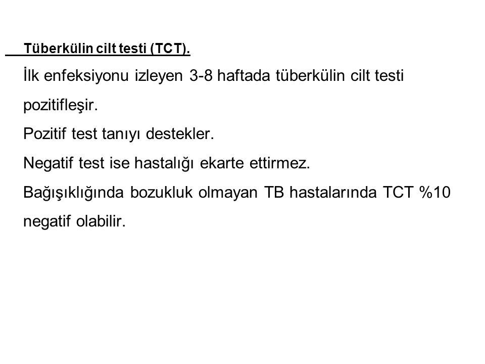 Tüberkülin cilt testi (TCT).