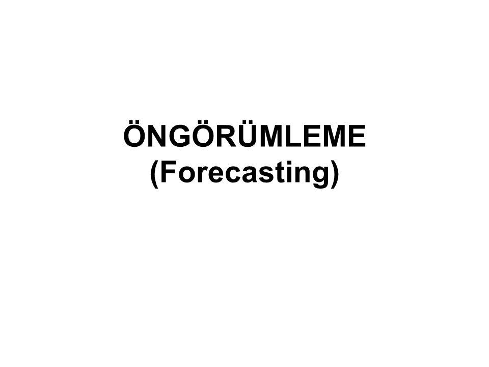 ÖNGÖRÜMLEME (Forecasting)