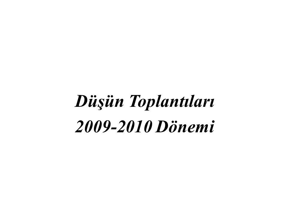 Düşün Toplantıları 2009-2010 Dönemi