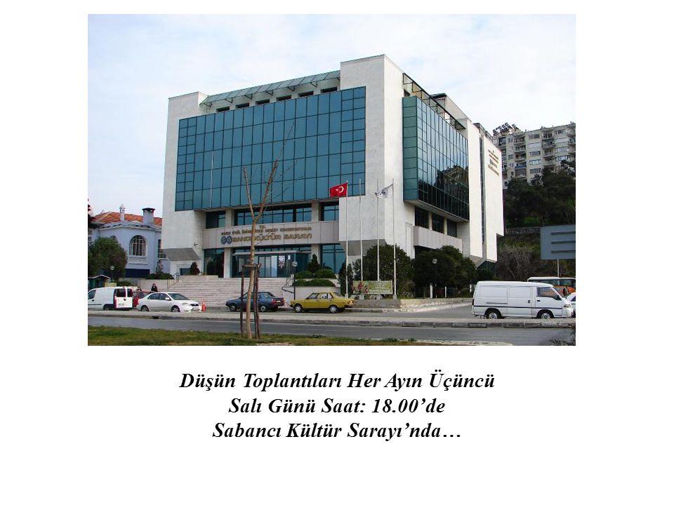DEÜ Düşün Toplantıları, 25 Kasım 2008 tarihinde Sabancı Kültür Sarayı'nda Düşün Toplantıları Düzenleme Kurulu Başkanı Prof.Dr.