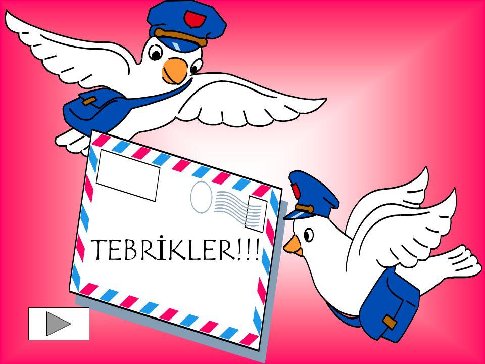 TEBRİKLER!!!