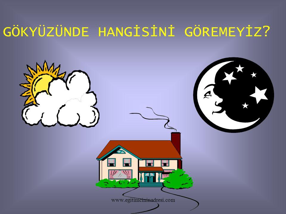 GÖKYÜZÜNDE HANGİSİNİ GÖREMEYİZ? www.egitimcininadresi.com