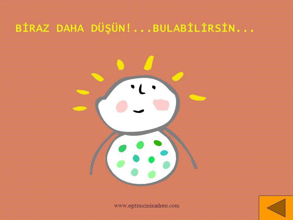 BİRAZ DAHA DÜŞÜN!...BULABİLİRSİN... www.egitimcininadresi.com