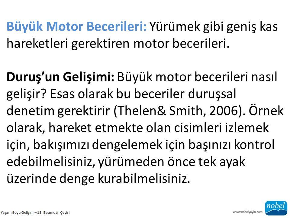 Büyük Motor Becerileri: Yürümek gibi geniş kas hareketleri gerektiren motor becerileri. Duruş'un Gelişimi: Büyük motor becerileri nasıl gelişir? Esas
