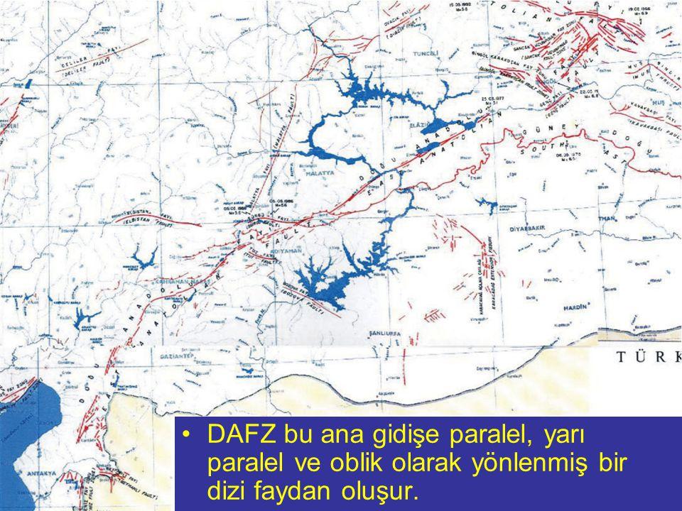 NEOTEKTONİK Doç.Dr. Yaşar EREN DAFZ bu ana gidişe paralel, yarı paralel ve oblik olarak yönlenmiş bir dizi faydan oluşur.