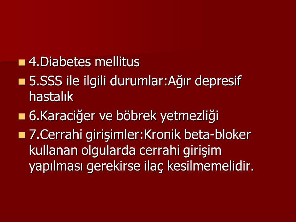 4.Diabetes mellitus 4.Diabetes mellitus 5.SSS ile ilgili durumlar:Ağır depresif hastalık 5.SSS ile ilgili durumlar:Ağır depresif hastalık 6.Karaciğer