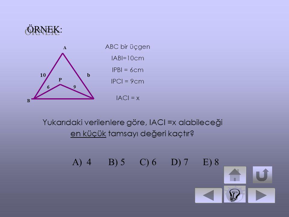 Bir üçgende aynı köşeden çizilen kenarortay, açı ortay ve yükseklik arasındaki sıralama A BCH b c ND IAHI= yükseklik IANI = n A açıortay IADI= V a ken