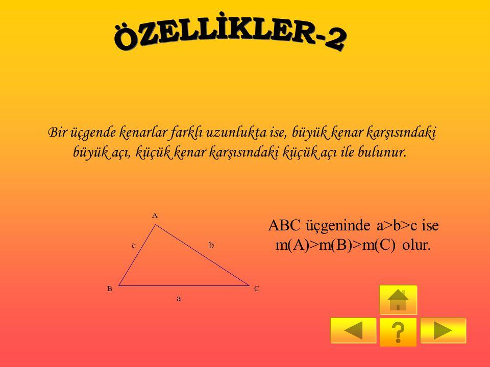ÇÖZÜM: I10-4I 2 <x< 10+4 2 6 2 <x< 14 2 3<x<7 Buna göre x; 4, 5, 6 tamsayı değerini alır. CEVAP: B