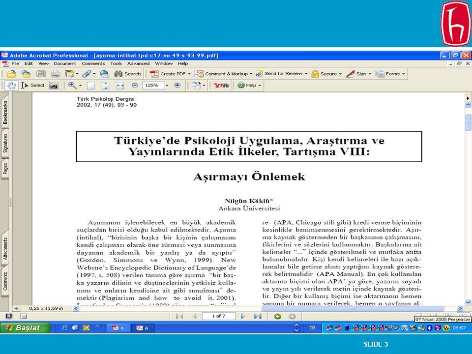 SLIDE 4 Aşırma Türleri Tamamen aşırma – bir yazar tarafından bir eserin kopya edilmesi veya bir başkası tarafından yeniden düzenlenmesi ve orijinal bir çalışma gibi sunulması (Köklü, 2002, s.