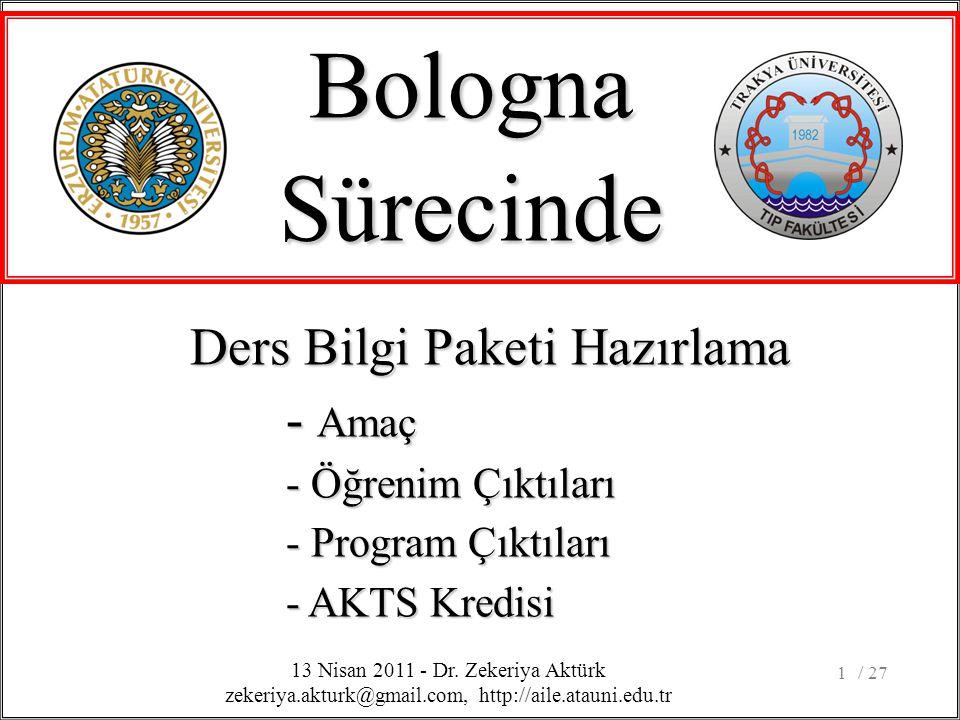 / 271 BolognaSürecinde 13 Nisan 2011 - Dr.