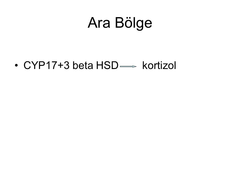 Ara Bölge CYP17+3 beta HSD kortizol