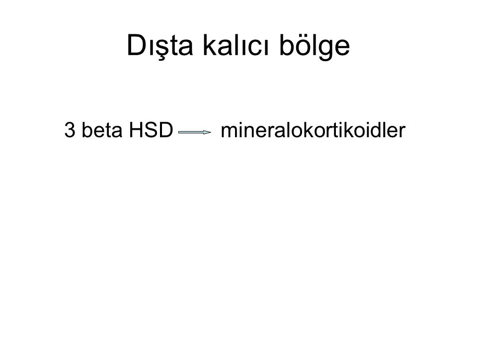 Dışta kalıcı bölge 3 beta HSD mineralokortikoidler