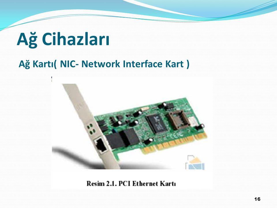 16 Ağ Kartı( NIC- Network Interface Kart ) Ağ Cihazları
