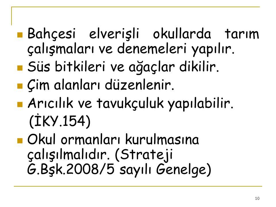 9 Atatürk büstünün bakım ve onarımının yapılması gerekir. (1928 TD. 04/06/1986- 3296 sayılı genelge) Göndere çekilen Bayrak sonuna kadar çekilmeli ve