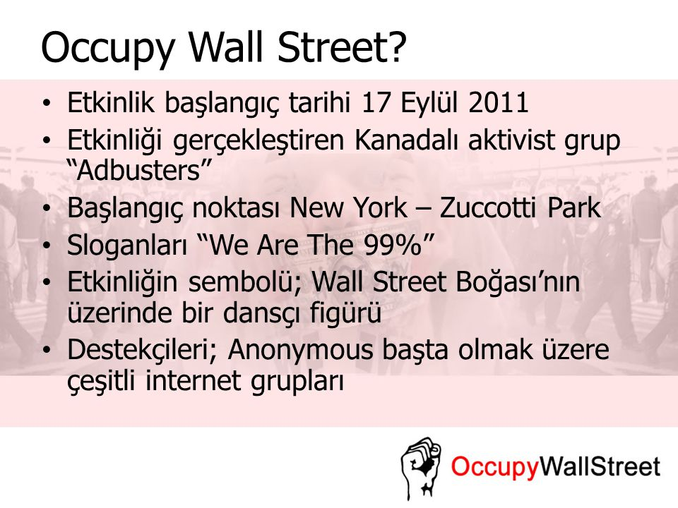 Occupy Wall Street.