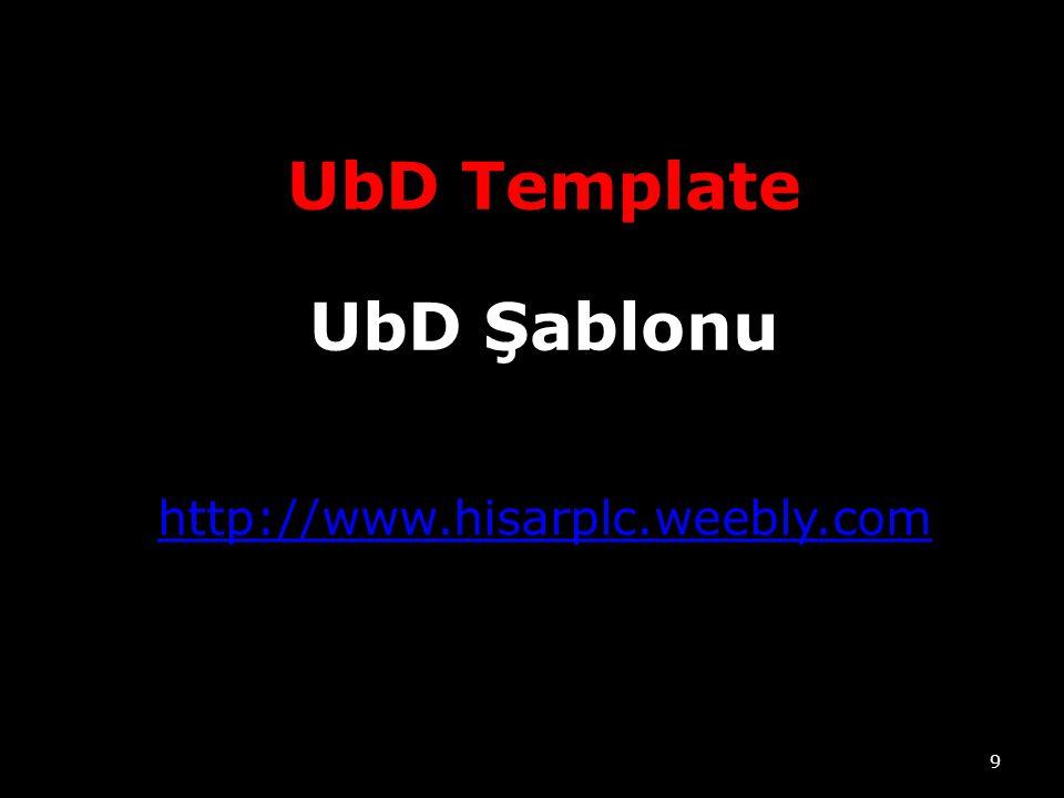 http://www.hisarplc.weebly.com 9 UbD Template UbD Şablonu