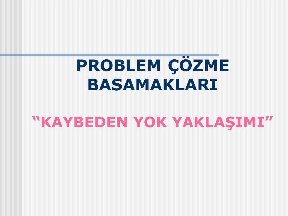 """PROBLEM ÇÖZME BASAMAKLARI """"KAYBEDEN YOK YAKLAŞIMI"""""""