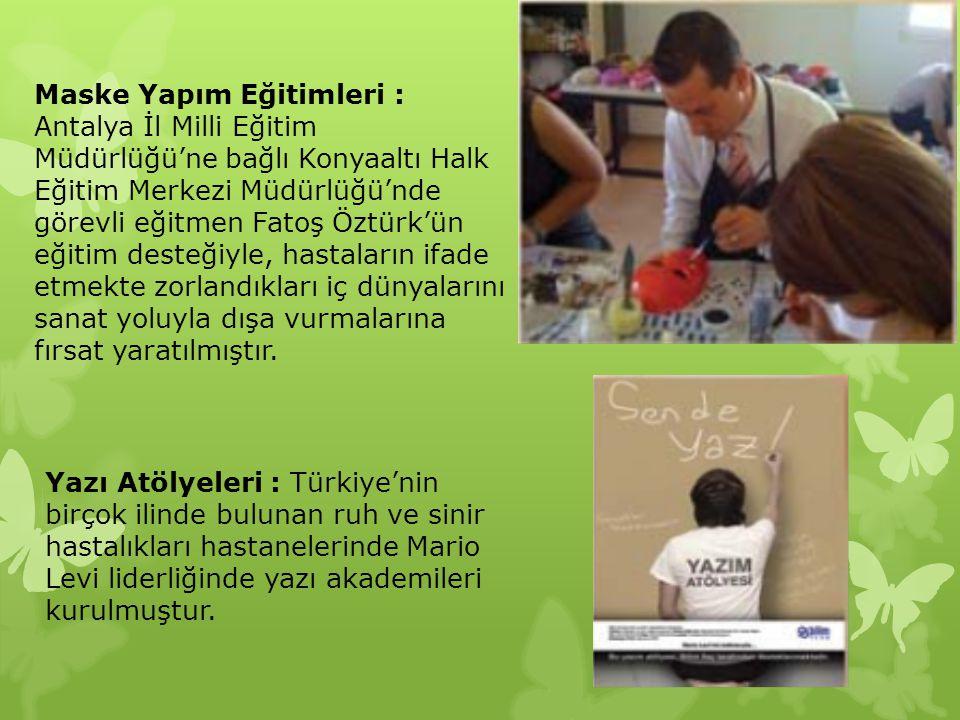 Maske Yapım Eğitimleri : Antalya İl Milli Eğitim Müdürlüğü'ne bağlı Konyaaltı Halk Eğitim Merkezi Müdürlüğü'nde görevli eğitmen Fatoş Öztürk'ün eğitim
