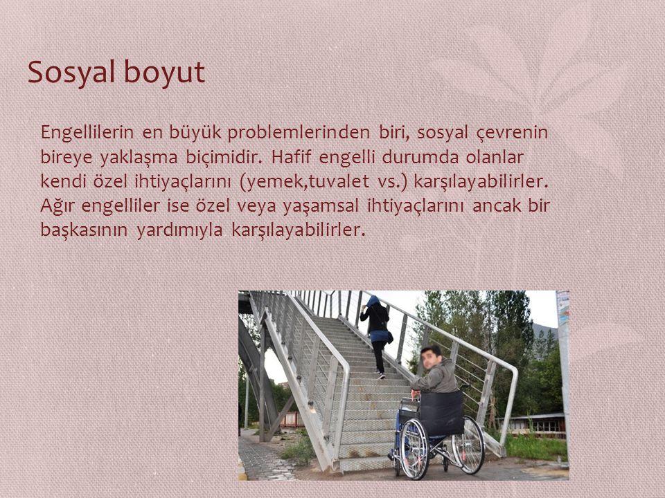 Engelliler; vücudun duyusal, işlevsel, zihinsel ve ruhsal farklılıkları öne sürülerek; toplumsal veya yönetimsel tutum ve tercihler sonucu, yaşamın bi